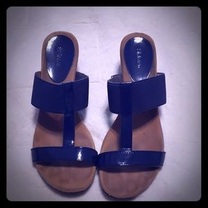 Blue style and co wedges